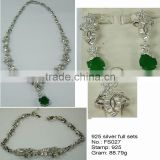 FS027 2013 hot sale Arabic Women Dress Jewelry Bracelet Set, 925 Sterling Silver Jewellry With Natural Stone