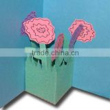 Printed 3d Card,Flower 3d Card,3d Puzzle Card
