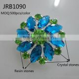 Wholesale Cheap Handmade Colorful Flower-shaped Resin Rhinestone Button for shoe Decoration