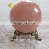 Lovely pink stone ball natural rose quartz sphere