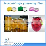 Glass Jar Canned Fruit Twist Off Cap/Lug Lid Making Machine