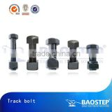 High tensile metric shoulder bolt hex head track bolt and nut