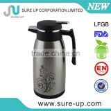 stainless steel outer body,clear plastic thermos tea pot with glass inner hot sale for Ramdon