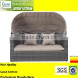 Outdoor Furniture Sofa Furniture, Rattan Modern Sofa Loveseat, 2 Seater Sofa with Canopy
