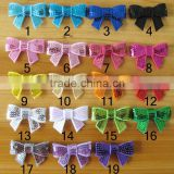 "CF0776 2"" wholesale mini boutique fashion beautiful sequin bows for baby girls"