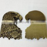 antique brass owl shape logo charms custom own brand logo metal charms for office decorations