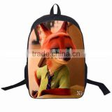 Sveda 2016 New School Backpack Wholesale, Hot Movie Zootopia Backpack Bag for kids, Baby School Bags