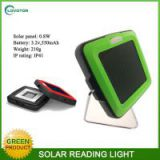 Two available optional color solar powered student reading light