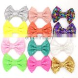 Hot sale Metal Hair Clips sequin bowknot alligator Clips for kids