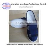 wholesale four holes blue canvas antistatic esd shoes