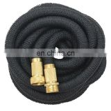 25FT 50FT 75FT 100FT Expandable Garden Water Hose double 2 layers Latex Expandable Garden Hose with solid brass fitting