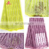 China supplier latest african lace fabric/african tulle lace fabrics /african fabrics for nigerian aso-oke