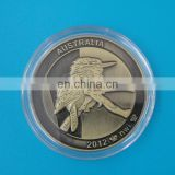 3D Australia Kookaburra Design Metal Coin With Capsule Box