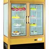 2~10℃ 285kg Three-sided Glass Shop Display Cabinets