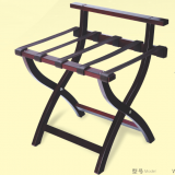 Folding Luggage Rack Wooden Suitcase Luggage Stand for Home Bedroom Hotel with Shelf in Red