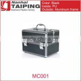 TP MC001Aluminum Makeup Artist Train Case to Store and Organize Makeup Jewelry Nail Polish