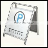 Hotel Metal Parking Sign_Stainless Steels Parking floor stand sign_ Pedestal Signs Stand_Portable Hotel Metal Parking Reserve