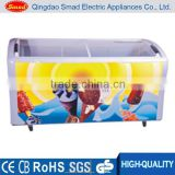 wholesale energy saving Chest Type ice cream freezer with glass door
