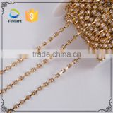 Wholesale colorful crystal rhinestone gold and silver metal handbag chain