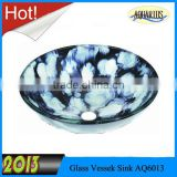 Bathroom Art Glass Free Standing Basin