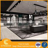 Customized showcase furniture steel to make revolving display stand for boutique store funiture with advantage price