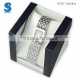 Unique Finished Packer Wooden Black Glossy Lacquer Watch Gift Box Size With PVC Window W1257