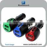 car charger with usb output for samsung galaxy tab 2 port usb car charger 12v/24v,3 in 1 charger