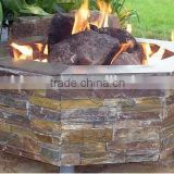Stone Finish Outdoor Gas Fire Pit Burner