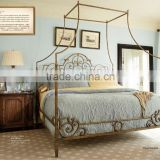 American country style metal canopy king size bed queen bed