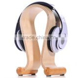 Hot Sale Wooden Headset Hanger, Wood Stand, Suitable All Headphone Size, Sound Stand, HeadSet Rack Display Hanger