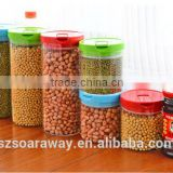 Glass jar for red green bean peanut household transparent sealed storage bottles with lid