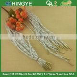 White and Gold Color Draws Cord with metal tip For Sportwear or Shoes -- H1568                                                                         Quality Choice