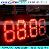p10mm digit led 7 segment 20 inch led gas station led price sign led display digit led board screen