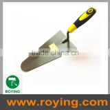 Stainless steel plastering trowel with soft handle