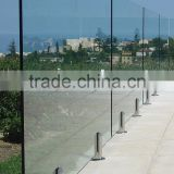 Supply Frameless Glass Pool Fencing/swimming pool fence and Spigot