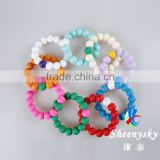 Hot new products for 2015 Soft FDA And BPA Free Kids Teething silicone Bracelet Wholesale