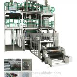 HOT SALE Film Blowing Machine Line 2 Layer Co-extrusion/rotary traction downward blowing