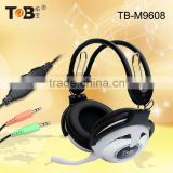 New 50mm driver units headphone with mic and volume control for game pc dj with USB or 3.5mm plug