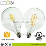 New arrival fashion design CE/UL listed edison bulb G125 E26/E27/B22 3W dimmable led bulbs