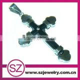 Wholesale fashion cross stainless steel chain necklaces