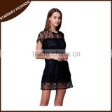 Latest design Lady's tassel sexy lace evening dress/