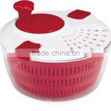 2016 Leakproof Plastic Salad Spinner with Clips and Crank handle Salad Chopper Slicer