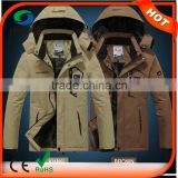 3 In 1 Men 's Brown Sports Clothing Smart Battery Heated Jackets                                                                         Quality Choice