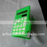 promotional 8 digits solar calculator with memo & pen