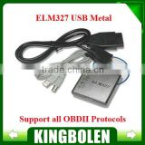 2014 Free Shipping ELM327 USB Metal V1.5a OBD2 Auto Diagnostic Tool ELM 327 CAN-BUS Interface Erase Trouble Code Scanner