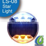 LS-08 New IP68 high flashing plastic led cat eye solar powered leds road stud solar road safety studs