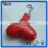 The gift for love 2 way pvc earphone music splitter with key chain