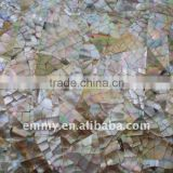 Natural brown mother of pearl oyster shell mosaic wall tile