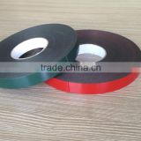 Double sided adhesive black white color EVA PE Foam Tape roll in 1 2 3 mm thickness laminated with red green release PE film