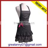 yiwu china factory wholesale fashional and recycle sexy balce lace cotton kitchen bib apron
